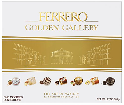 Ferrero Golden Gallery 42 Piece Fine Assorted Confections, 13.7 oz. Box