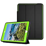 Qelus iPad Air2 Case, Three Layer Hybrid Shockproof Rugged Protective Heavy Duty with Magnetic Stand, Smart Cover Auto Wake/Sleep Protective Case Cover for Apple iPad Air 2(2014 Released),Black+Green