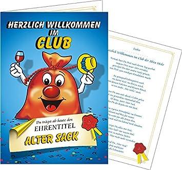 Variante Pass Alter Sack Neu Willkommen Im Club Clubausweis Alte