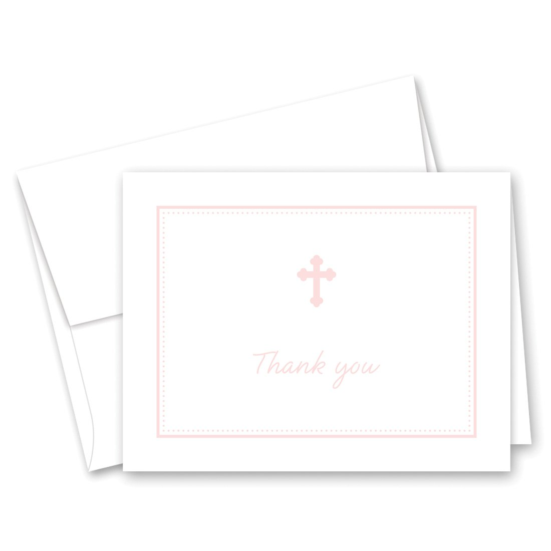 MyExpression.com 50 Cnt Pink Cross Baby Thank You Cards