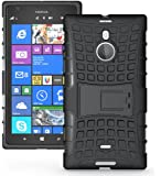 JKase DIABLO Tough Rugged Dual Layer Protection Case Cover with Build in Stand for Nokia Lumia 1520 (Black)