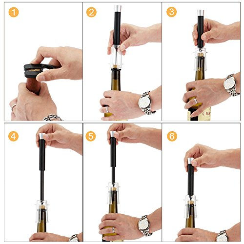 4PCS/Set Air Corkscrew, Tubwair Air Pressure Wine Opener Quick Pneumatic Tumbler Easy Remover Wine Cork Out Tool, Perfect Gift and for All Wine Lovers by Tubwair (Image #8)