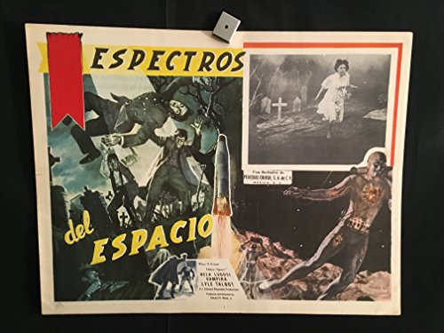 Plan 9 From Outer Space 1958 Original Vintage Mexican Lobby Card Movie Poster, Horror, Bela Lugosi, Ed Wood, Vampira, Lyle Talbot