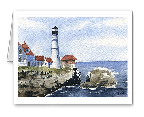 Portland Head Lighthouse - Set of 10 Note Cards With Envelopes