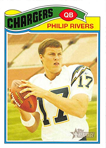 (2005 Topps Heritage Football #205 Philip Rivers San Diego Chargers)