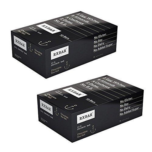 (RXBAR Whole Food Protein Bar, Chocolate Sea Salt, 1.83 Ounce (Pack of 24))