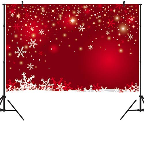 Velour Snowflake - DULUDA 9X6FT Seamless Christmas Red Winter Snowflackes Photography Backdrops Customized Photo Background Studio Prop WXL45B