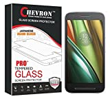 Chevron HD Clear Tempered Glass Screen Protector For Motorola Moto E3 Power, Fit 99.9% Touch Accurate, 0.3mm