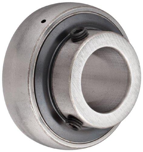 (SKF YAR 204-012-2F Ball Bearing Insert, Setscrew Locking, Contact Seals, Regreasable, Steel, 3/4