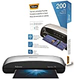 Fellowes Spectra 95 Home Office Craft Laminator with 200 Letter-Size 3mil Laminating Pouches