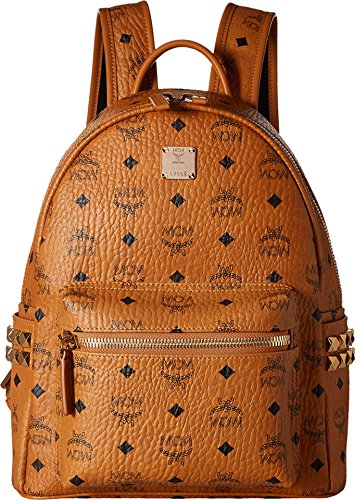 MCM Women's Small Backpack, Cognac, One Size