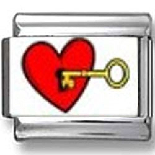 Key to My Heart Photo Italian Charm