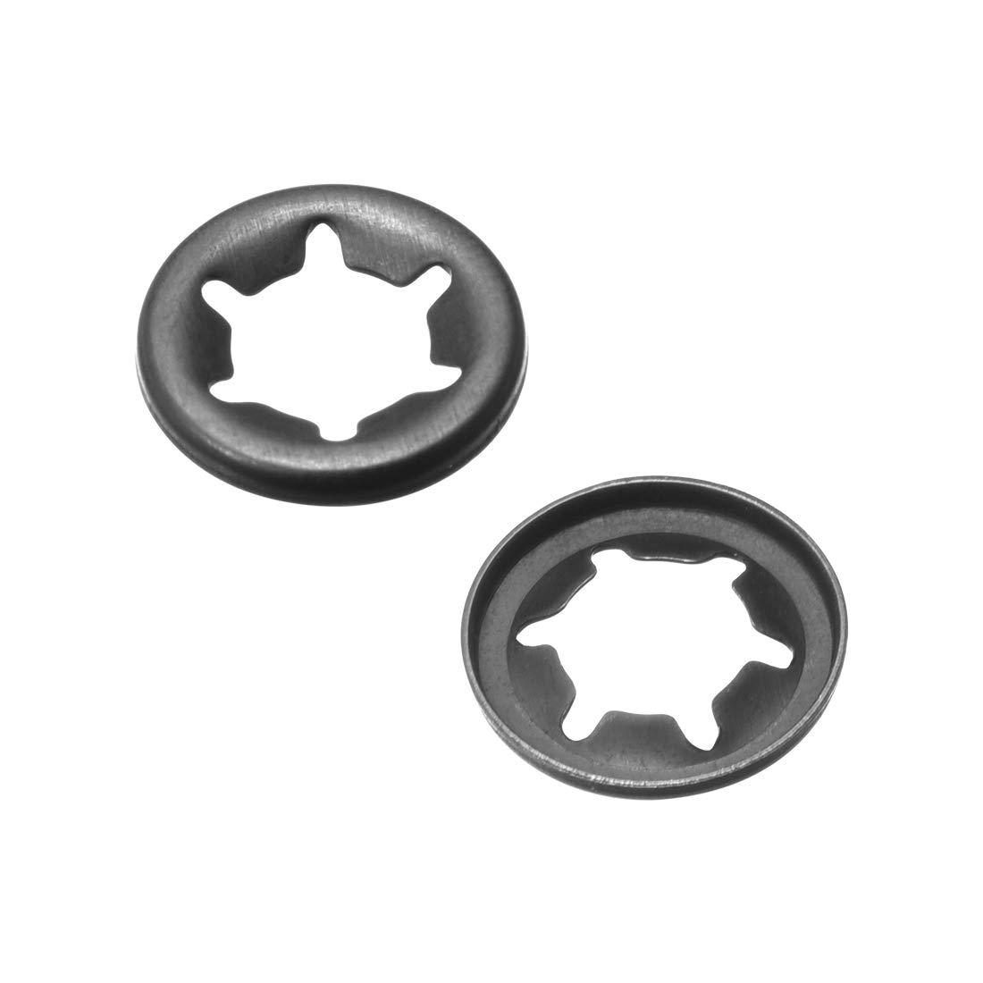 Arandelas Starlock de Sourcingmap con cierre a presi/ón para dientes internos kit surtido de broches paquete de 100 unidades