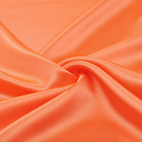 Evening Stretch Floor Tangerine Adorona Satin Length Like Silk Dropped Dress 6PZaq0n