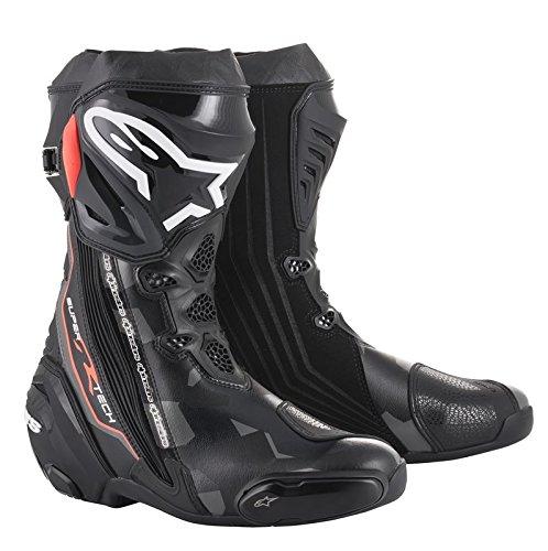 Alpinestars SUPERTECH R Black Dark Gray Red Fluo Boots