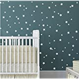 Multi-Size Stars Pattern Wall Decor Stickers For Home Decoration -Removable DIY Vinyl Decal for Kids room Nursery Decor Wall Stickers& Mural (White)