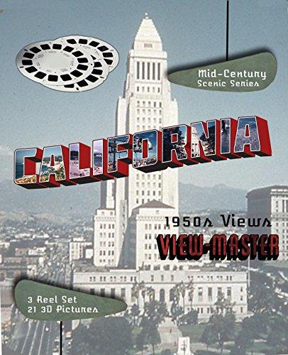 1950 Viewmaster Reel - CALIFORNIA 1950s 3D CLASSIC ViewMaster - Scenic Series - 3 Reel Set Souvenir