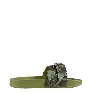 Damen PUMA Flip Flops In grün Größe 40 Model 365774 günstig