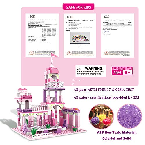 CLToys Girls Building Blocks Toys 254 Pieces Princess Castle Toys for Girls Pink Palace King's Banquet Bricks Toys Construction Play Set for Kids Age 6-12 and Up