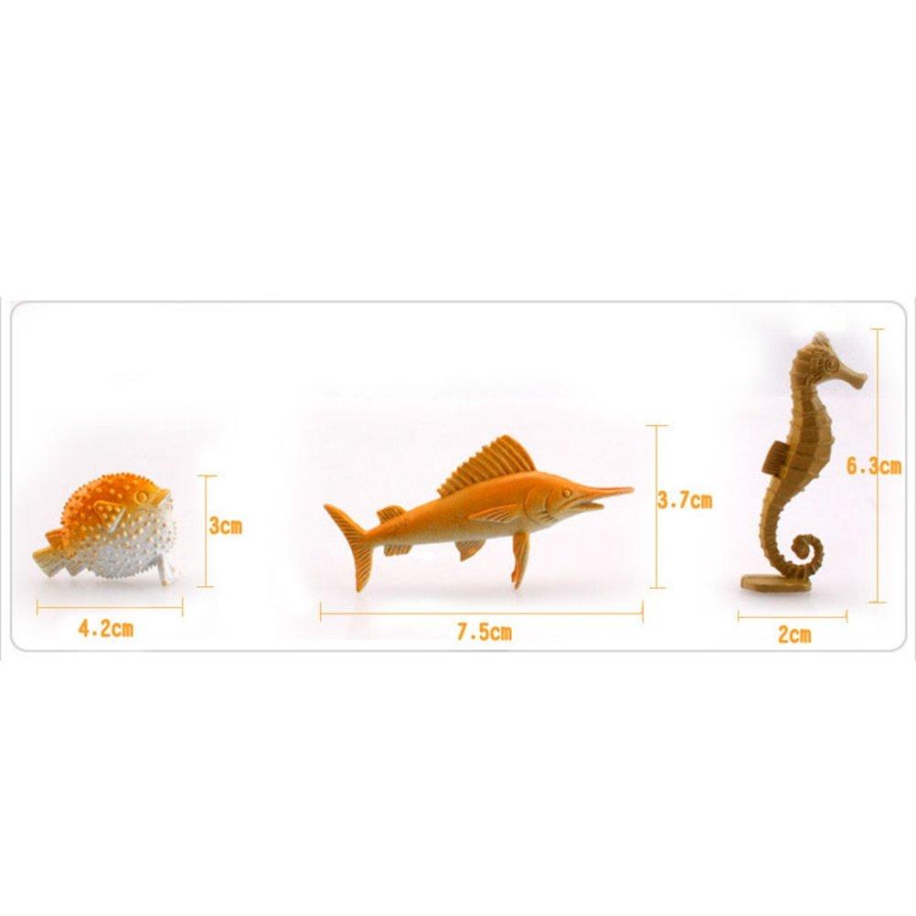TOYMYTOY Animales Marinos de Pl/ástico Juguetes de Aprendizaje para Ni/ños Beb/és 16 Piezas