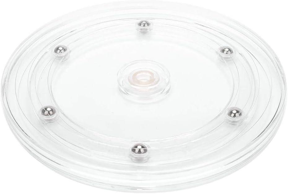 durchsichtig 4//6//8 Zoll extra gro/ßer Drehteller aus BPA-freiem Kunststoff f/ür den Vorratsschrank drehbarer Gew/ürzhalter f/ür Vorratsdosen und Gew/ürze Junejour K/üchen Organizer