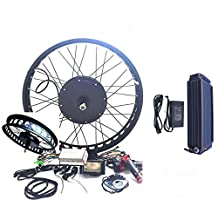 48V1200W Hub Motor 14Ah Li-on Battery Powered Electric Bike Conversion Kit 4.0 Fat Rim + LCD Theebikemotor