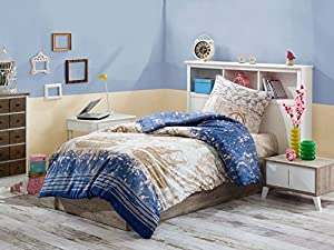 Eponj Home Single Quilt Cover Set - Duvet Cover: 155 x 200 cm Pillowcase: 50 x 80 cm (1 Piece)