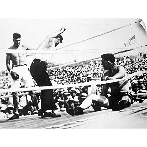 CANVAS ON DEMAND Jack Dempsey (1895-1983), American Boxer Wall Peel Art Print, - Gloves Heavyweight Ohio