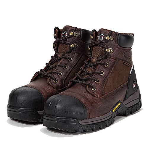 ROCKROOSTER Work Boots for Men, Composite Toe,Waterproof, Kevlar Puncture, Safety Shoes,Ventilated, Perfect Breathable, EEE-Wide (AT872 9 ()