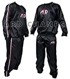 Heavy Duty Sweat Suit Sauna Exercise Gym Suit Fitness Weight Loss Anti-Rip (4XL)