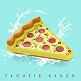Floatie Kings: Inflatable Pizza Pool Float, Extra Large with Cup Holders (Inflatables, Floats Lounger)
