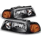 RVLightings Damon Outlaw 2005-2007 RV Motorhome Pair (Left & Right) Black Headlights NEW