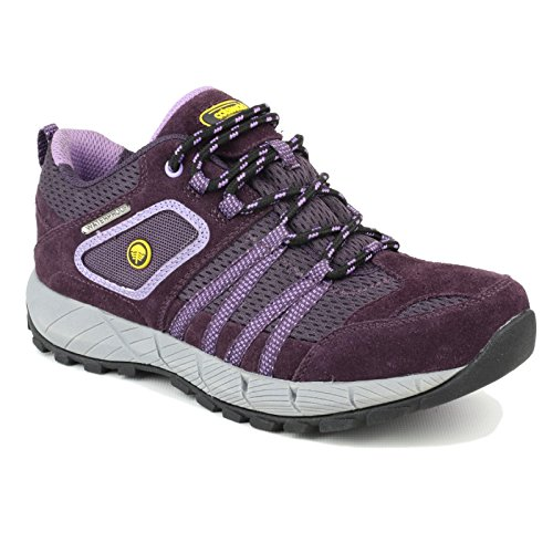Cotswold Mens Sevenwells Hiking Walking Shoes Navy Purple