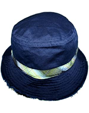 Distressed Style Infant Blue Bucket Sun Hat (Infant/ 18 Months)