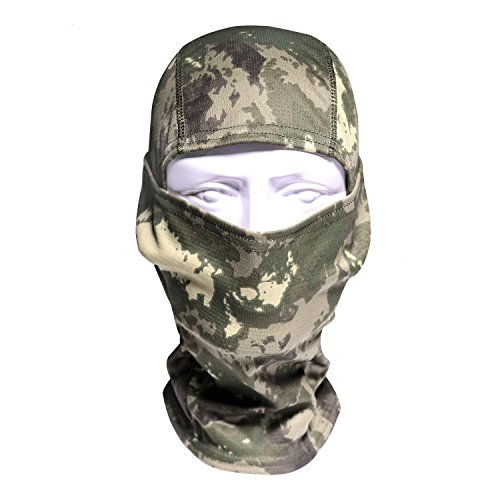 Camouflage Balaclava Face mask Hood Headwear hunting Ninja Outdoor Cycling Motorcycle Hunting Military Tactical Helmet liner Gear Full Face Mask (Black Camo) (Woodland) Camouflage Balaclava
