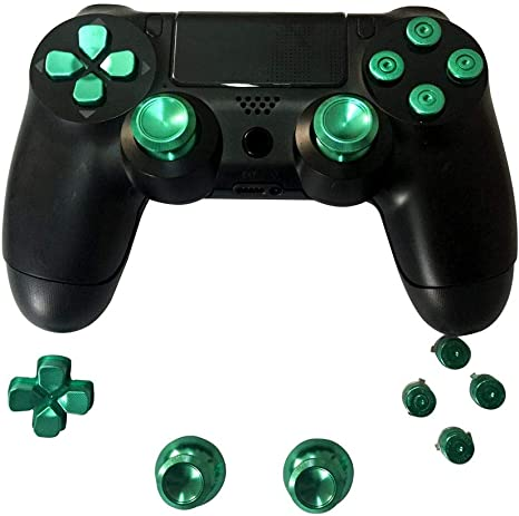 Sony PS4 Playstation 4 Controller Button Set Aluminum - Green ...