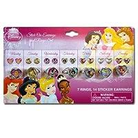 Juego de aretes y anillos para pegar de la Princesa Disney - Disney Pretend Jewellery