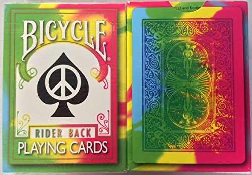 Rare Bicycle Tie Dye Deck Playing Cards Tye Die Magic