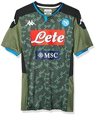 Ssc Napoli Italian Serie A Men's Away Match Shirt, Green, L