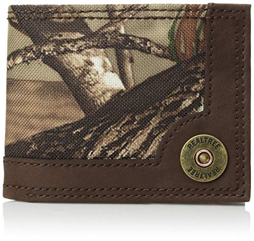 Real Tree Men's RFID Blocking Extra Capacity Slimfold Wallet, Brown/camo, One -