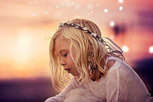 Ivory Floral Crown, Flower Girl Wreath, Boho Bridal Halo