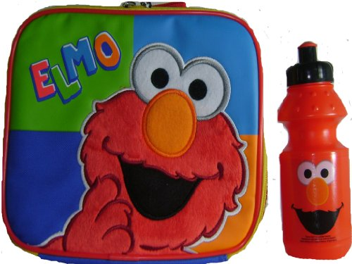 New Elmo Lunch Box and Water Bottle School Insulated Lunch Tote