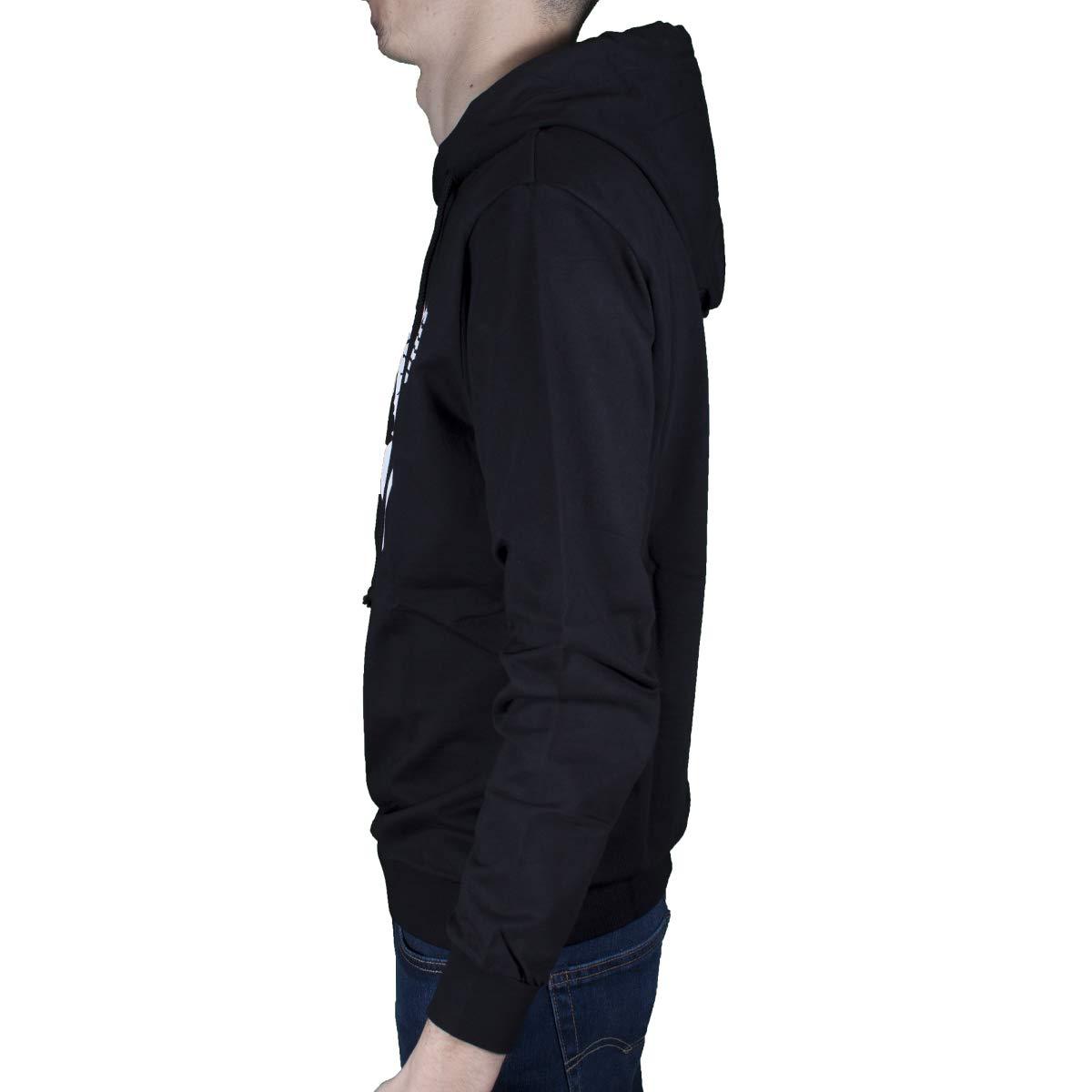 Boy London Felpa Uomo Nero con Cappuccio e Stampa con Logo BLU6001