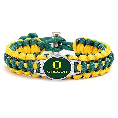 Swamp Fox Premium Style Oregon Ducks Football Team Adjustable Paracord Survival Bracelet ()