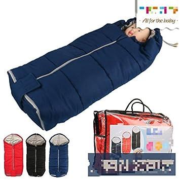 Saco de dormir bebe sleeping bag baby 40 * 80cm cochecito saco de dormir saco de dormir espesado pies calientes a prueba de viento , hide blue: Amazon.es: ...