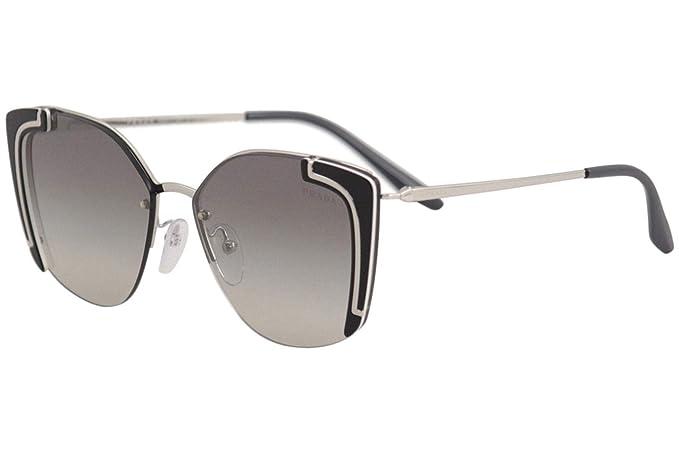 Prada 0PR 59VS Gafas de sol, Silver/Black Ivory, 63 para ...