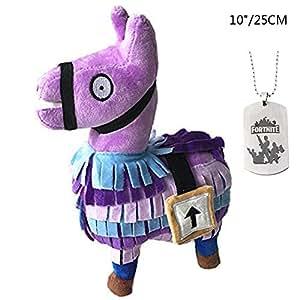 Comtervi Fortnite Loot Llama Juguetes de Peluche, Animales de Peluche de Juguete para niños, colección de Regalos de cumpleaños del niño de Juguete (Mediano)