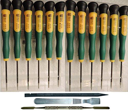 15 Piece Precision Electronics Screwdrivers & Spudger Pry Tool Set: SmartPhone, iPhone, MacBook Pro & Air, Gaming System, Laptop Tablet Pad, Repair Kit (Printer Repair Kit compare prices)