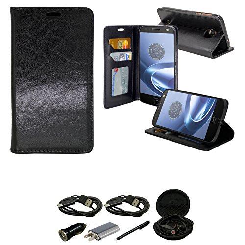 Moto Z Force Case Wallet Case, Slim Flip
