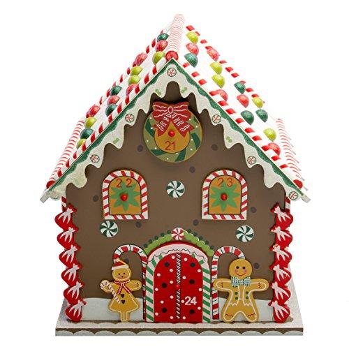 Holiday Advent Calendar - Hot Headz Wood Advent Calendar Drawers Christmas Holiday Gingerbread House Reusable Daily Countdown